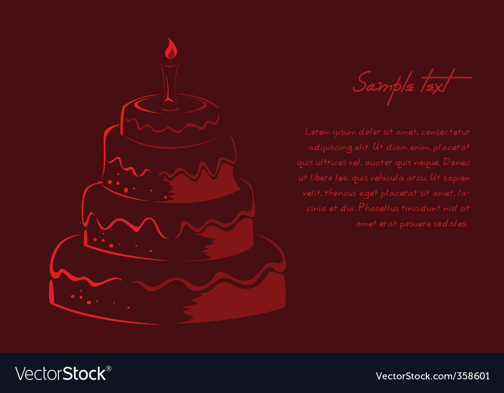 Abstract birthday card vector | Price: 1 Credit (USD $1)