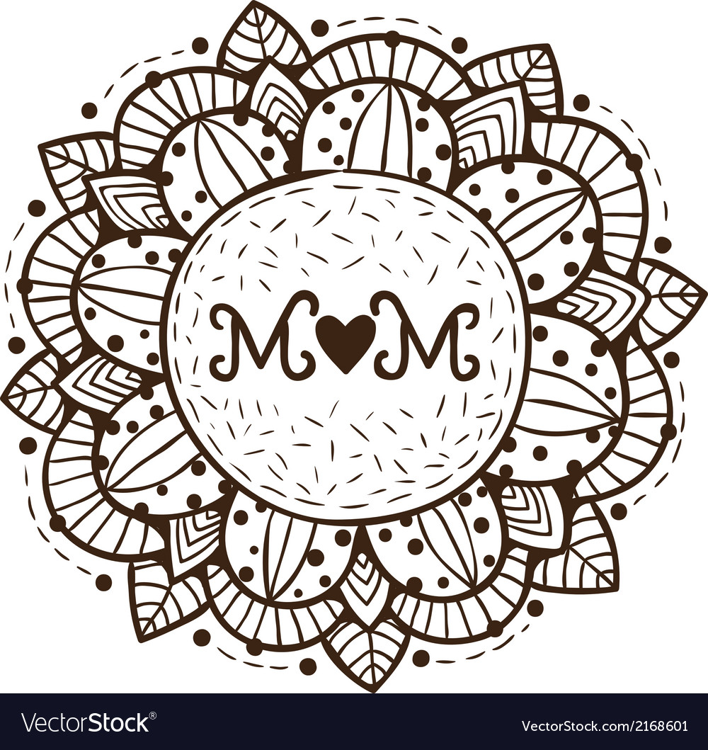 Abstract flower happy mother day design element vector | Price: 1 Credit (USD $1)