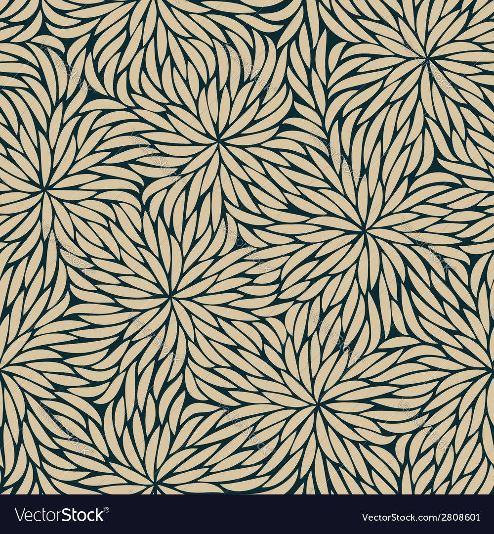 Abstract strokes flowers seamless pattern vector | Price: 1 Credit (USD $1)