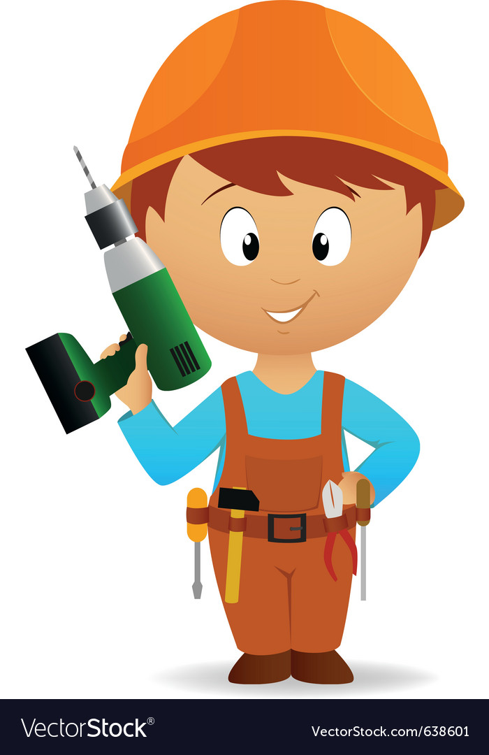 Cartoon handyman vector | Price: 3 Credit (USD $3)