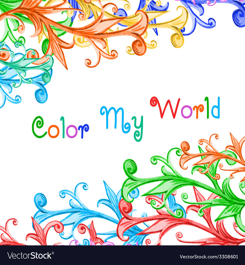 Color my world vector | Price: 1 Credit (USD $1)