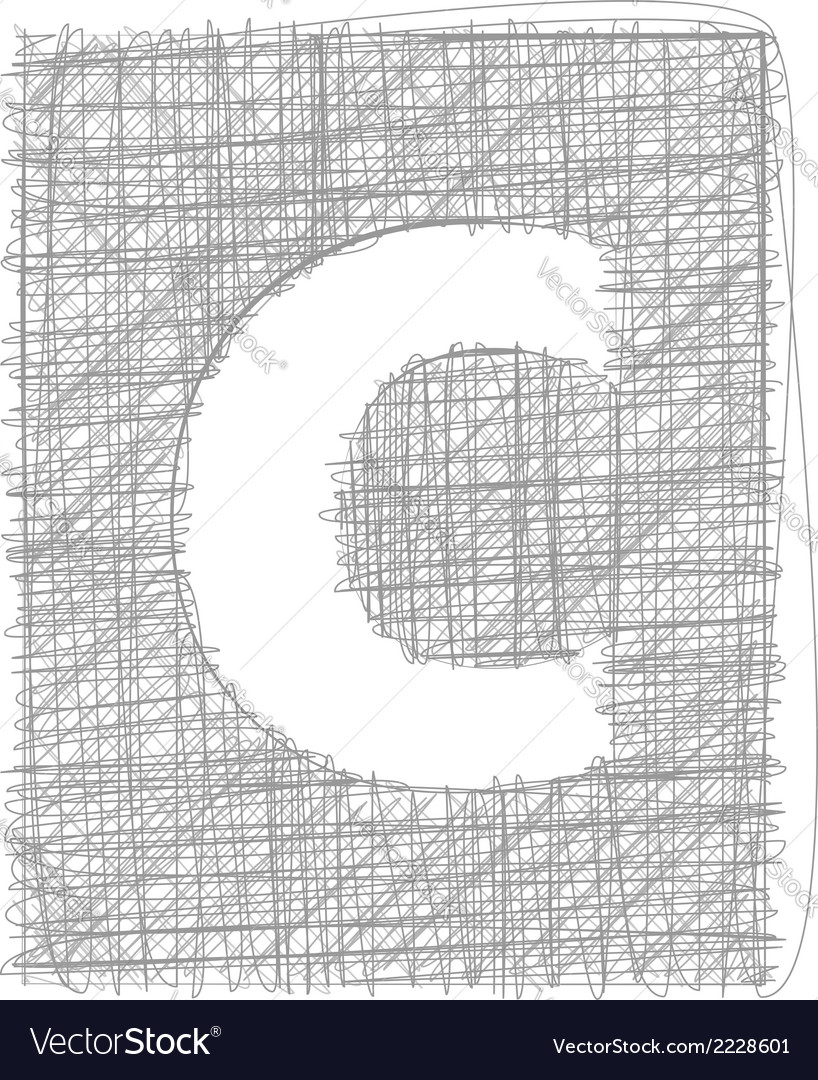 Freehand typography letter c vector | Price: 1 Credit (USD $1)