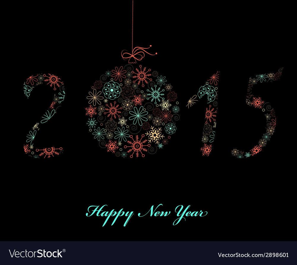 Happy new year greeting card 2015 vector | Price: 1 Credit (USD $1)