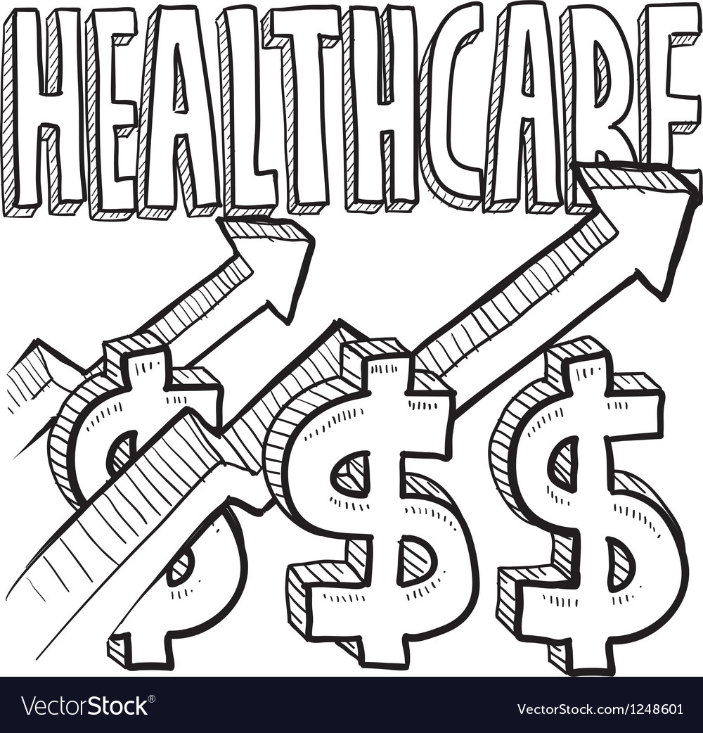 Healthcare costs increase vector | Price: 1 Credit (USD $1)