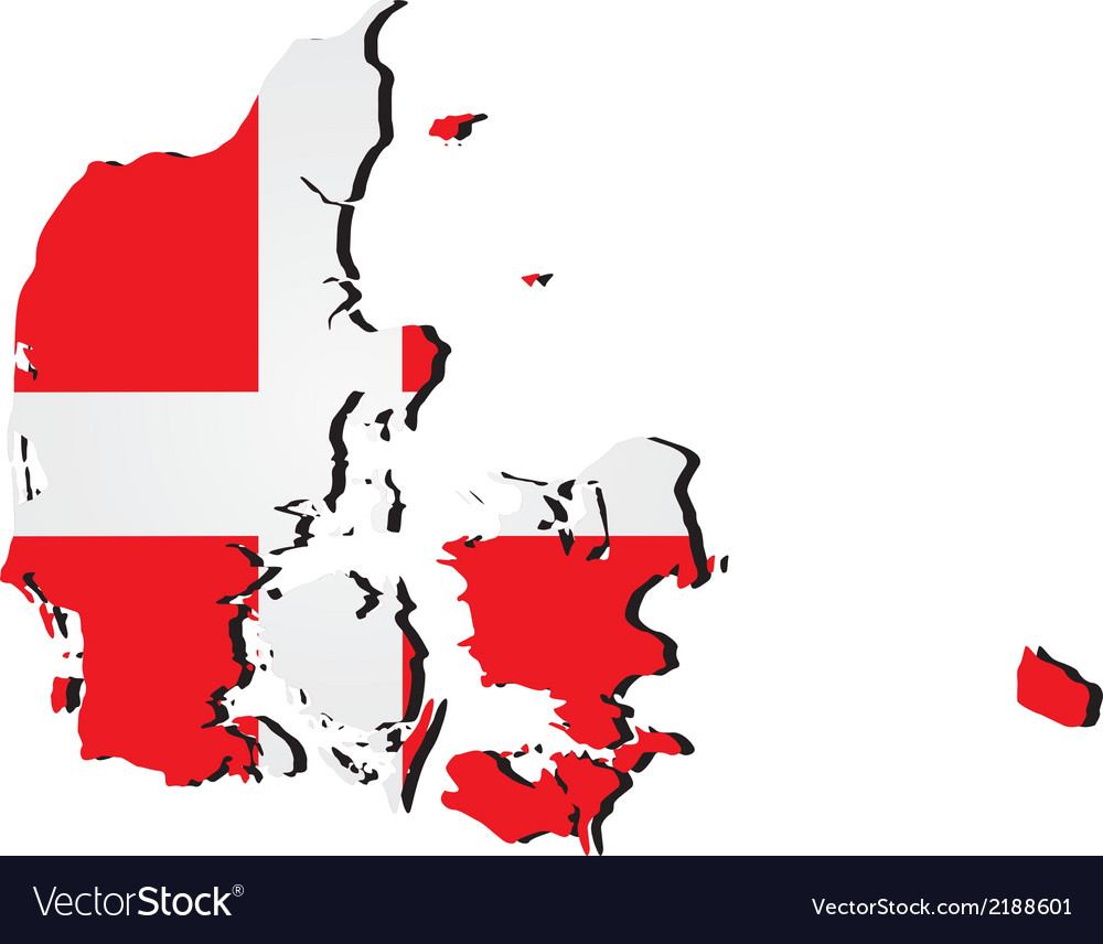 High detailed map - denmark vector | Price: 1 Credit (USD $1)
