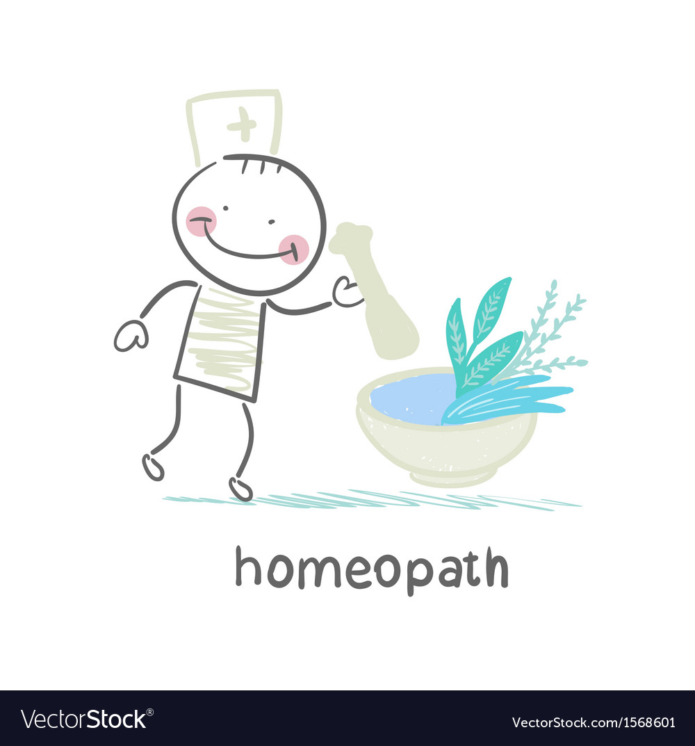 Homeopath medicine prepared from plants vector | Price: 1 Credit (USD $1)