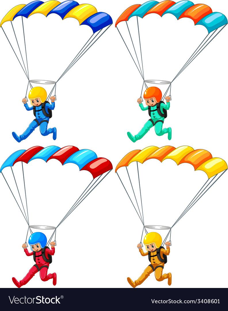 Parachute vector | Price: 1 Credit (USD $1)