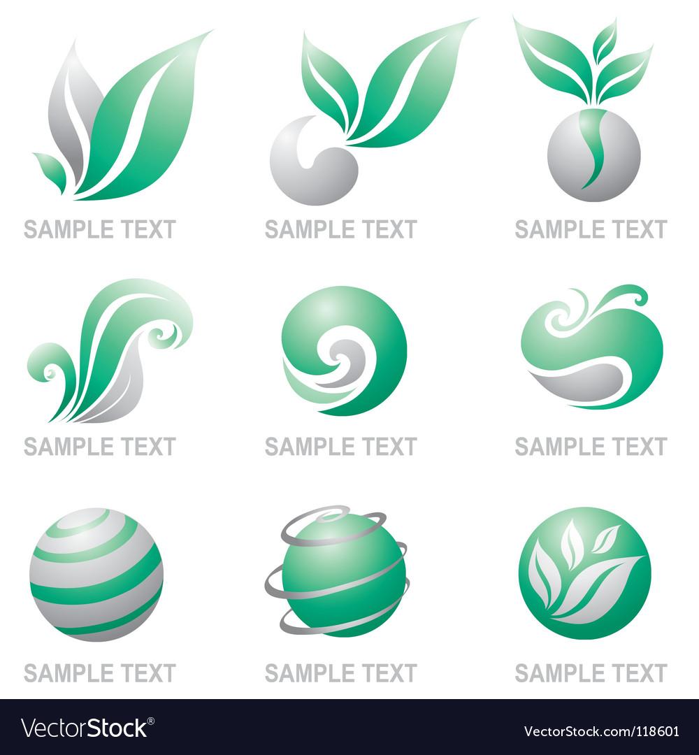 Set of symbols of nature vector | Price: 1 Credit (USD $1)