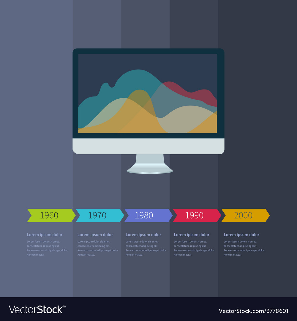 Time line infographic business with diagrams vector | Price: 1 Credit (USD $1)