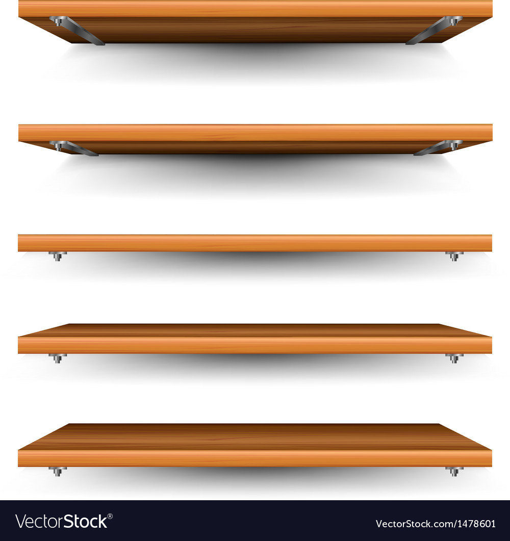 Wood shelves set vector | Price: 1 Credit (USD $1)