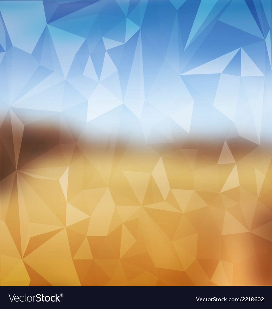 Blurred yellow and blue with polygonal mosaic vector | Price: 1 Credit (USD $1)
