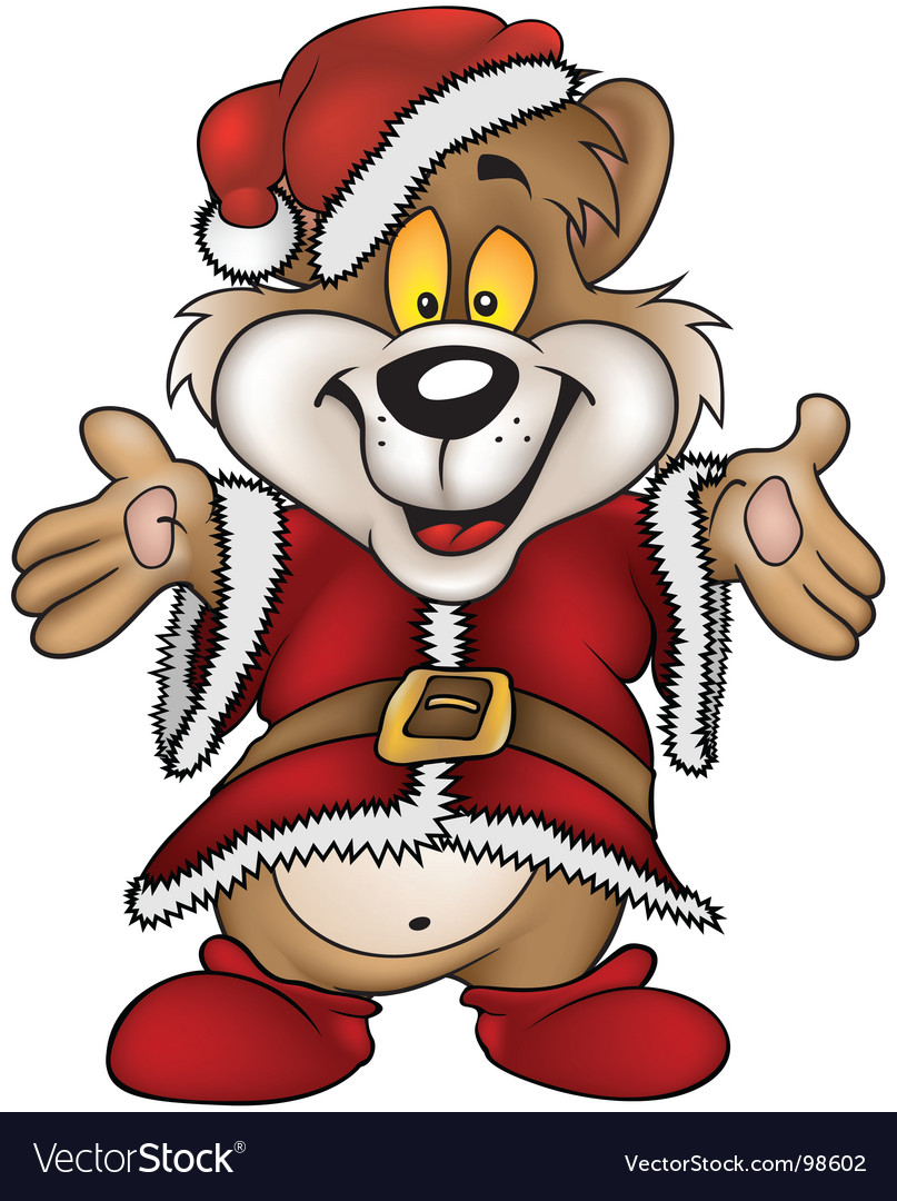Christmas happy bear vector | Price: 1 Credit (USD $1)