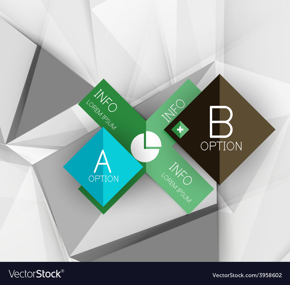 Color paper infographics vector | Price: 1 Credit (USD $1)