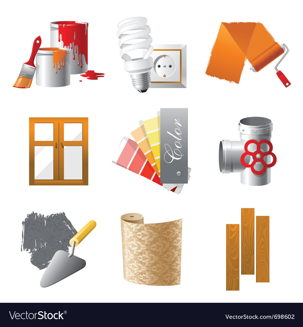 Home repair icons set vector | Price: 3 Credit (USD $3)