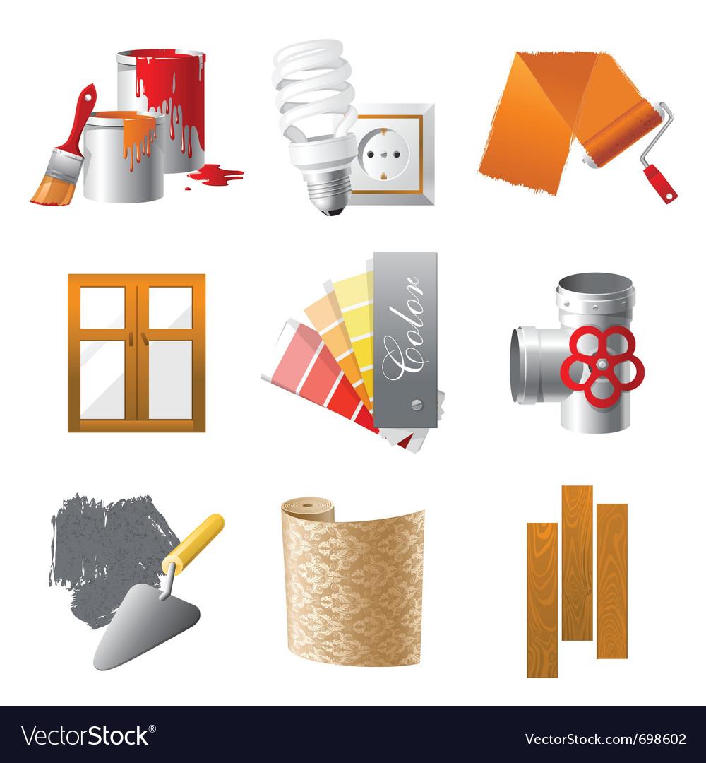 Home repair icons set vector | Price: 3 Credit (USD $3)
