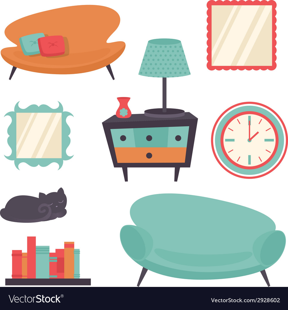 Interior design elements vector | Price: 1 Credit (USD $1)