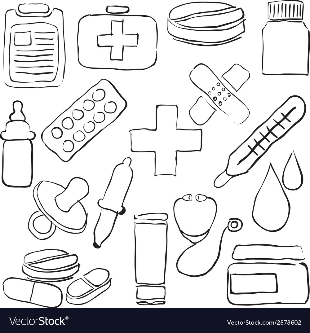 Pharmacy sketch images vector | Price: 1 Credit (USD $1)