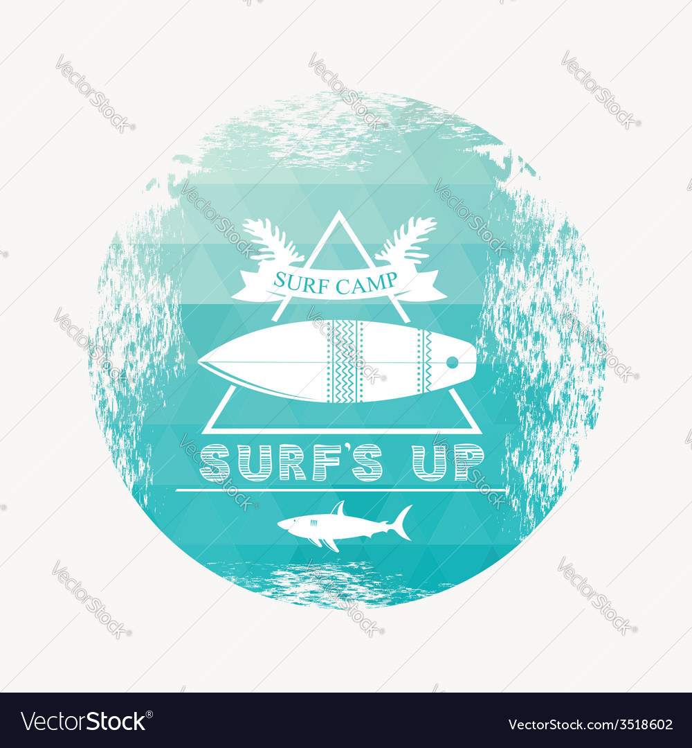 Surf camp vector | Price: 1 Credit (USD $1)