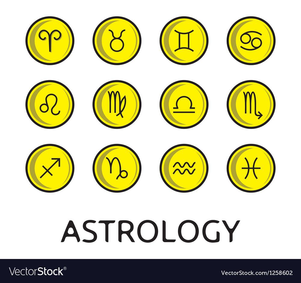 Zodiac button collection vector | Price: 1 Credit (USD $1)