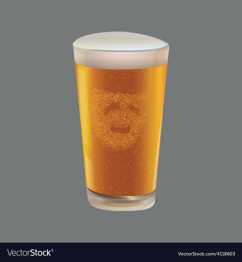 A glass of beer vector | Price: 1 Credit (USD $1)