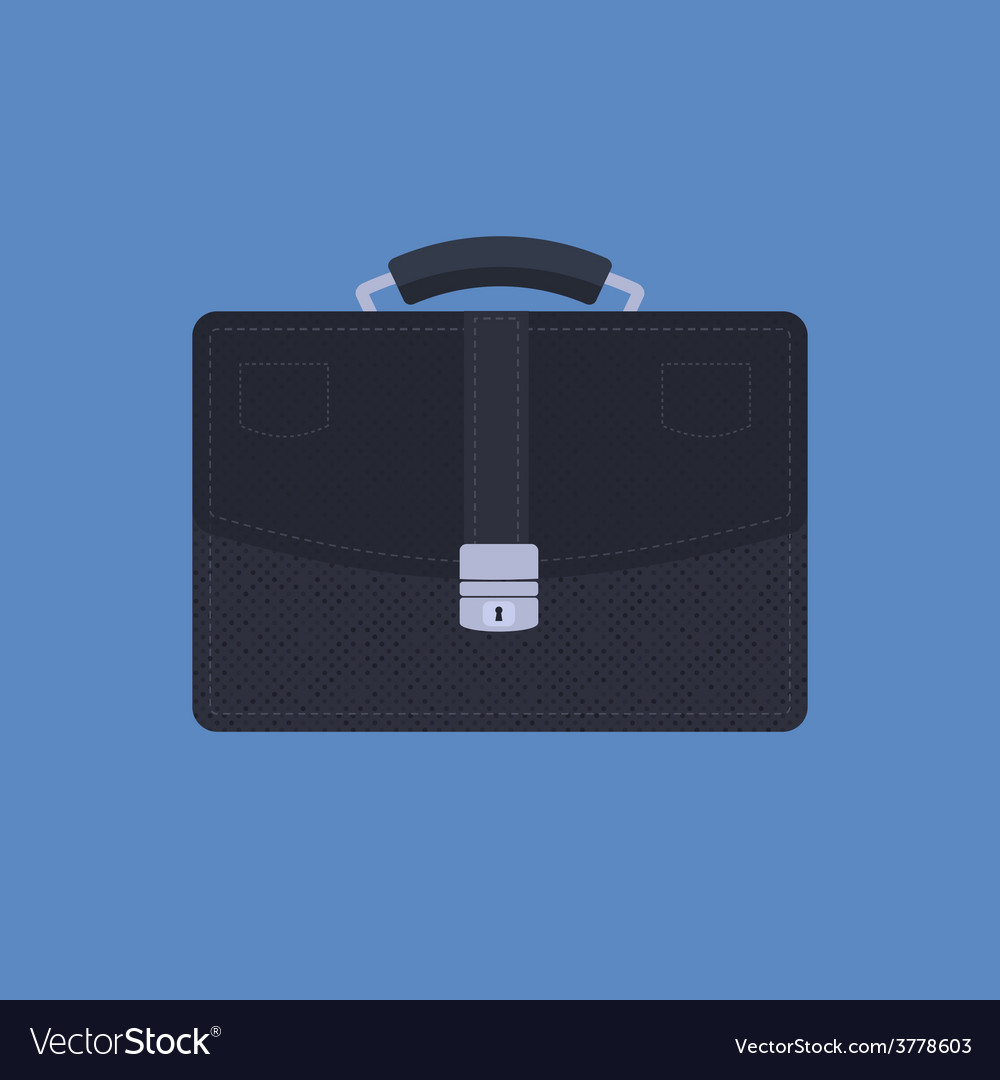 Briefcase on blue background vector | Price: 1 Credit (USD $1)