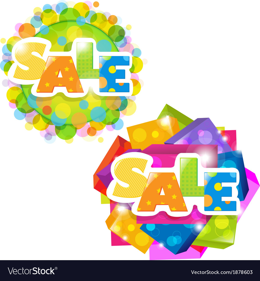 Bright sale posters set vector | Price: 1 Credit (USD $1)