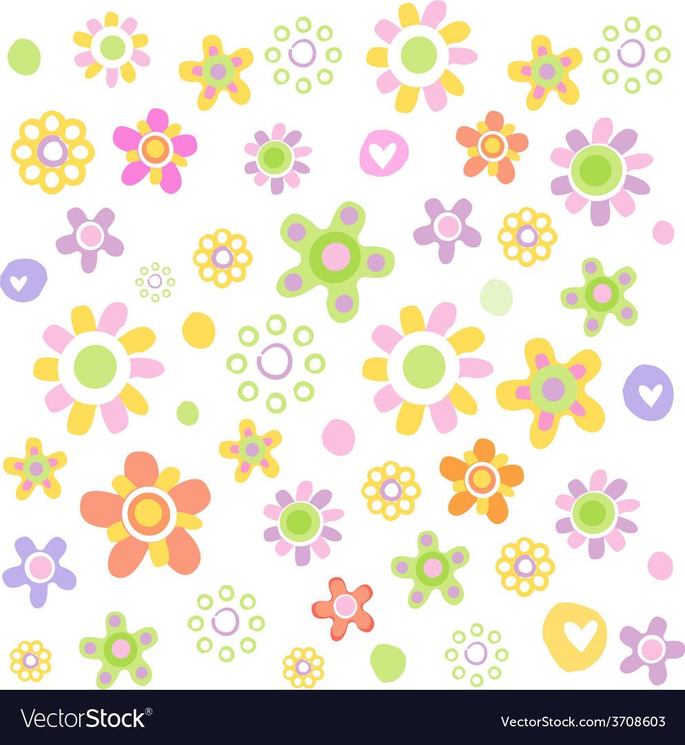 Cute floral ornament vector | Price: 1 Credit (USD $1)