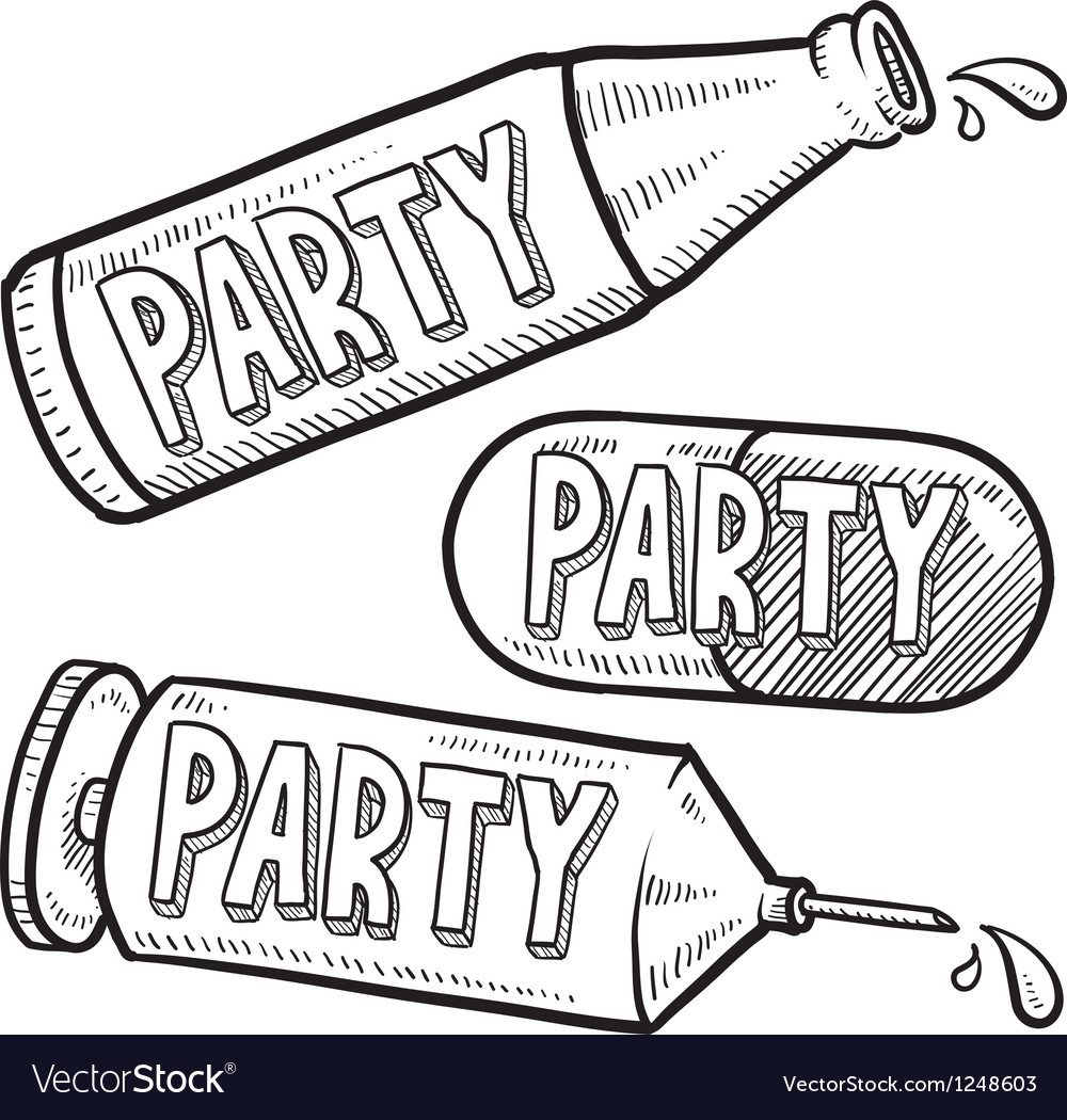 Drugs and alcohol party vector | Price: 1 Credit (USD $1)