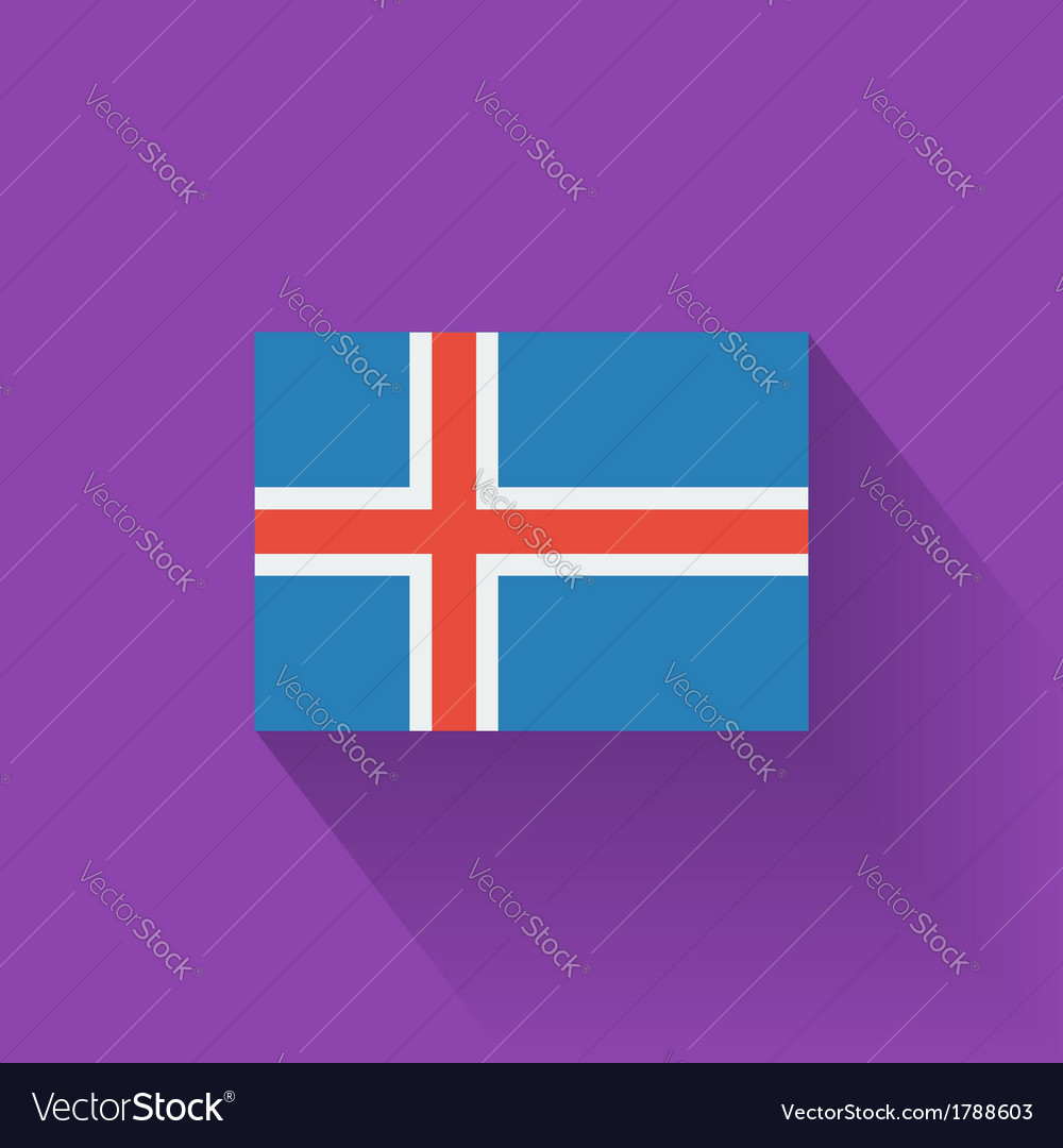 Flat flag of iceland vector | Price: 1 Credit (USD $1)