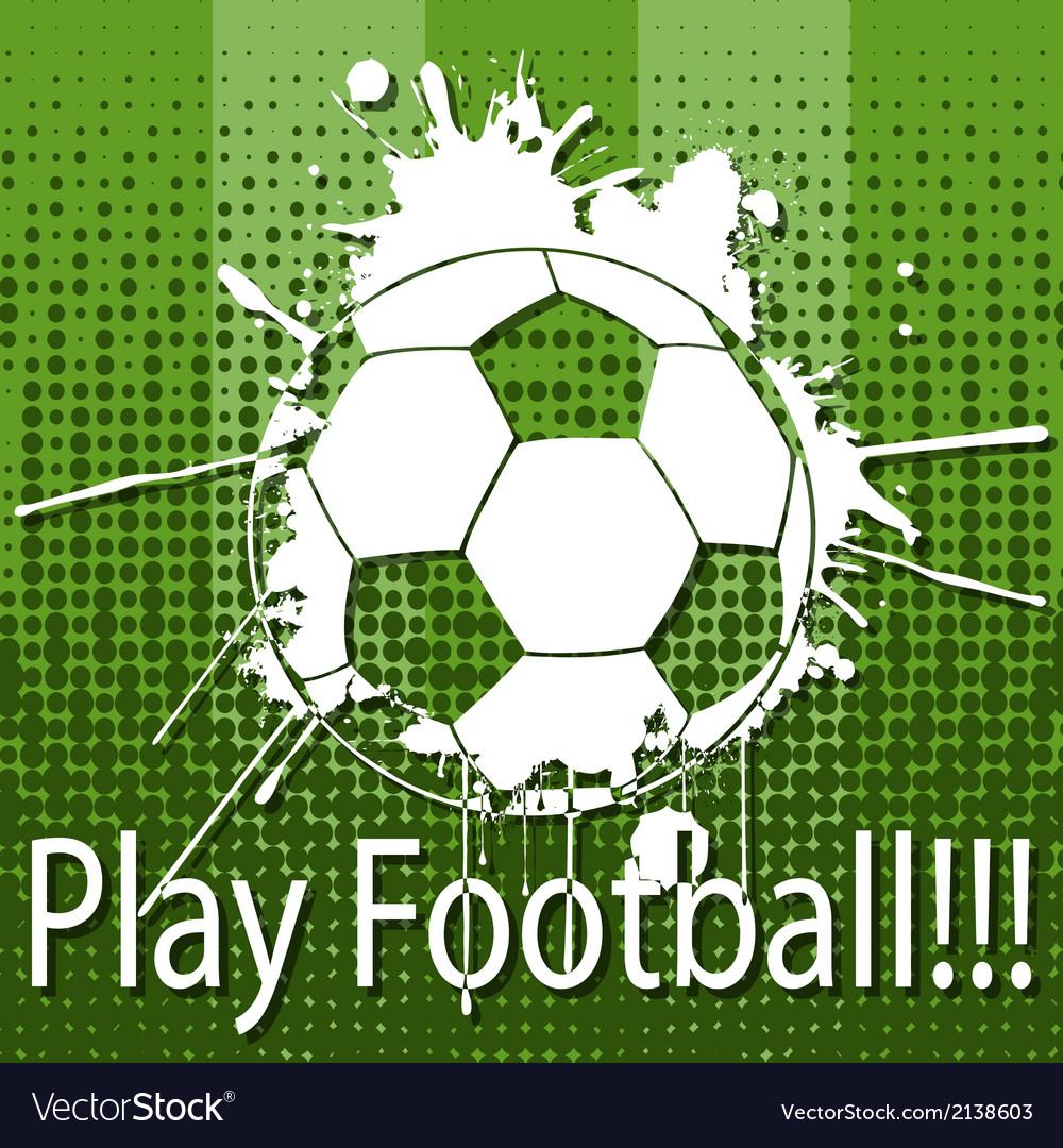 Play football vector | Price: 1 Credit (USD $1)