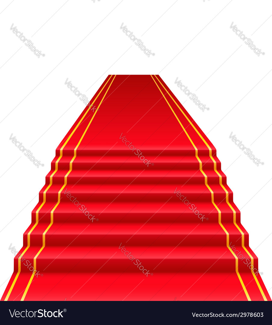 Red carpet 01 vector | Price: 1 Credit (USD $1)