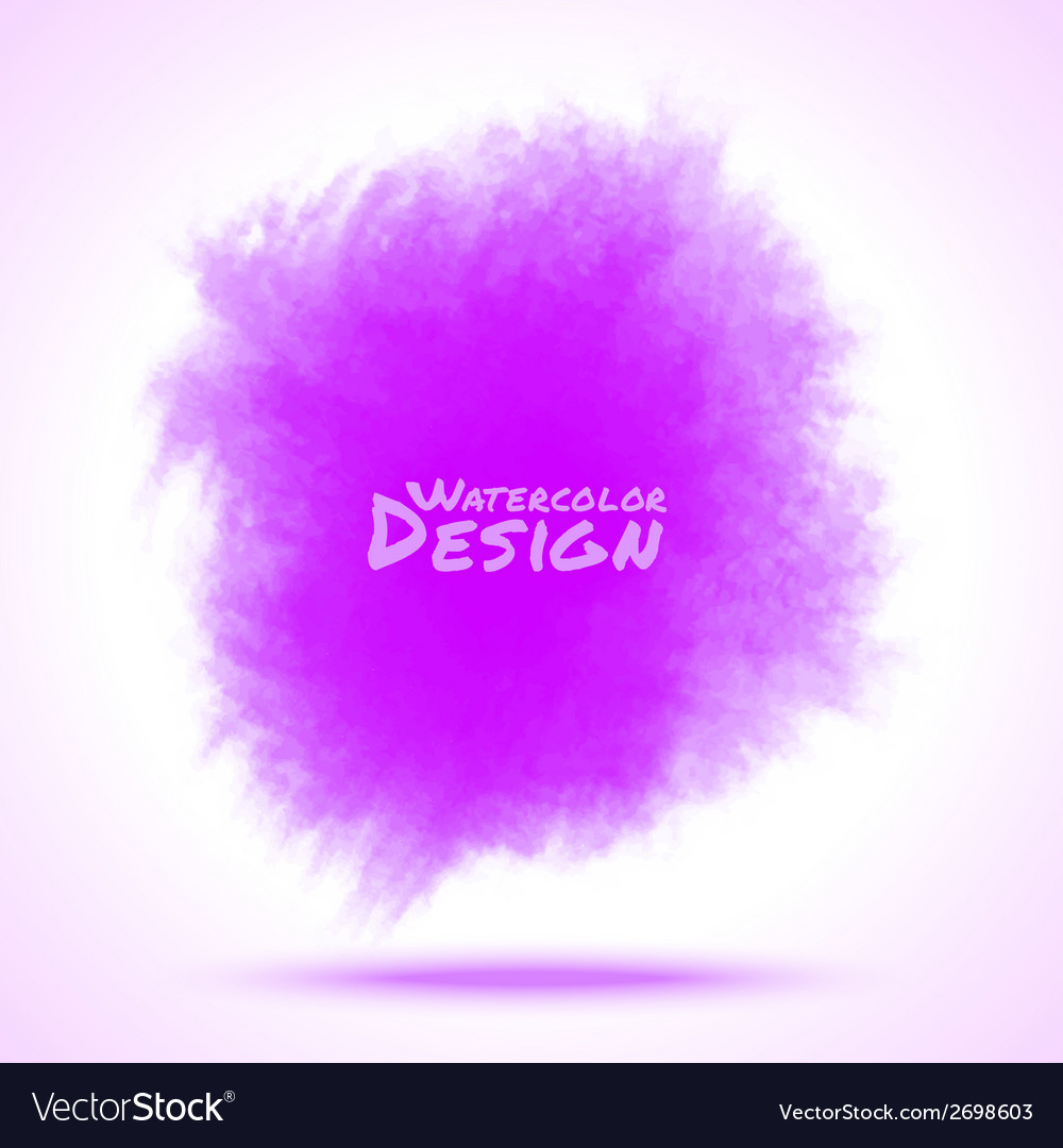 Violet watercolor splatter vector | Price: 1 Credit (USD $1)
