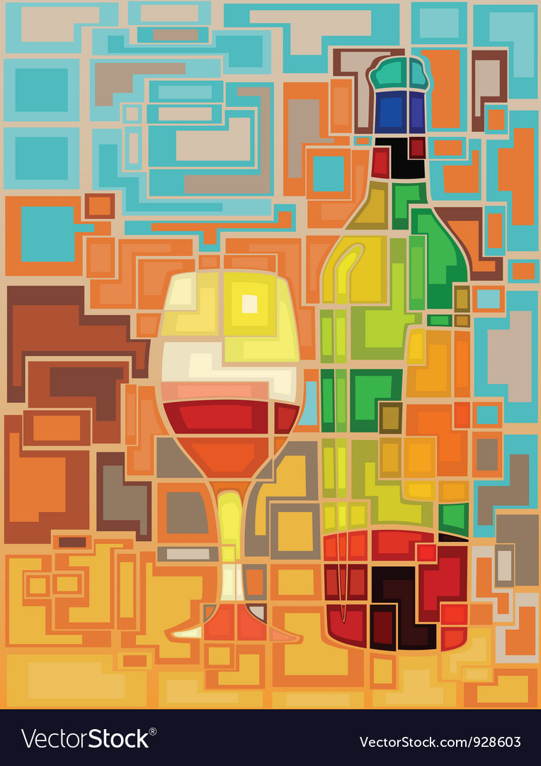 Wine mosaic vector | Price: 3 Credit (USD $3)