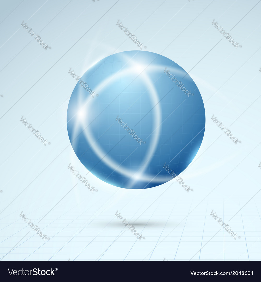 Blue globe - connection concept vector | Price: 1 Credit (USD $1)