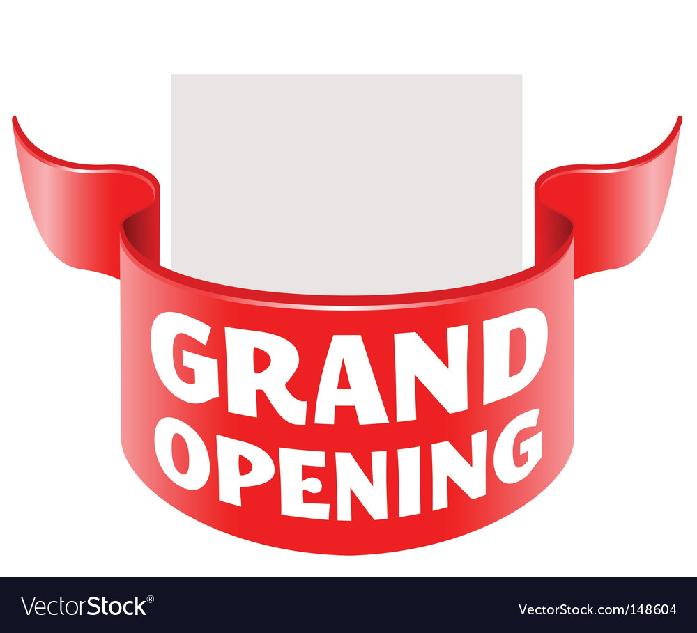 Grand opening ribbon vector | Price: 1 Credit (USD $1)