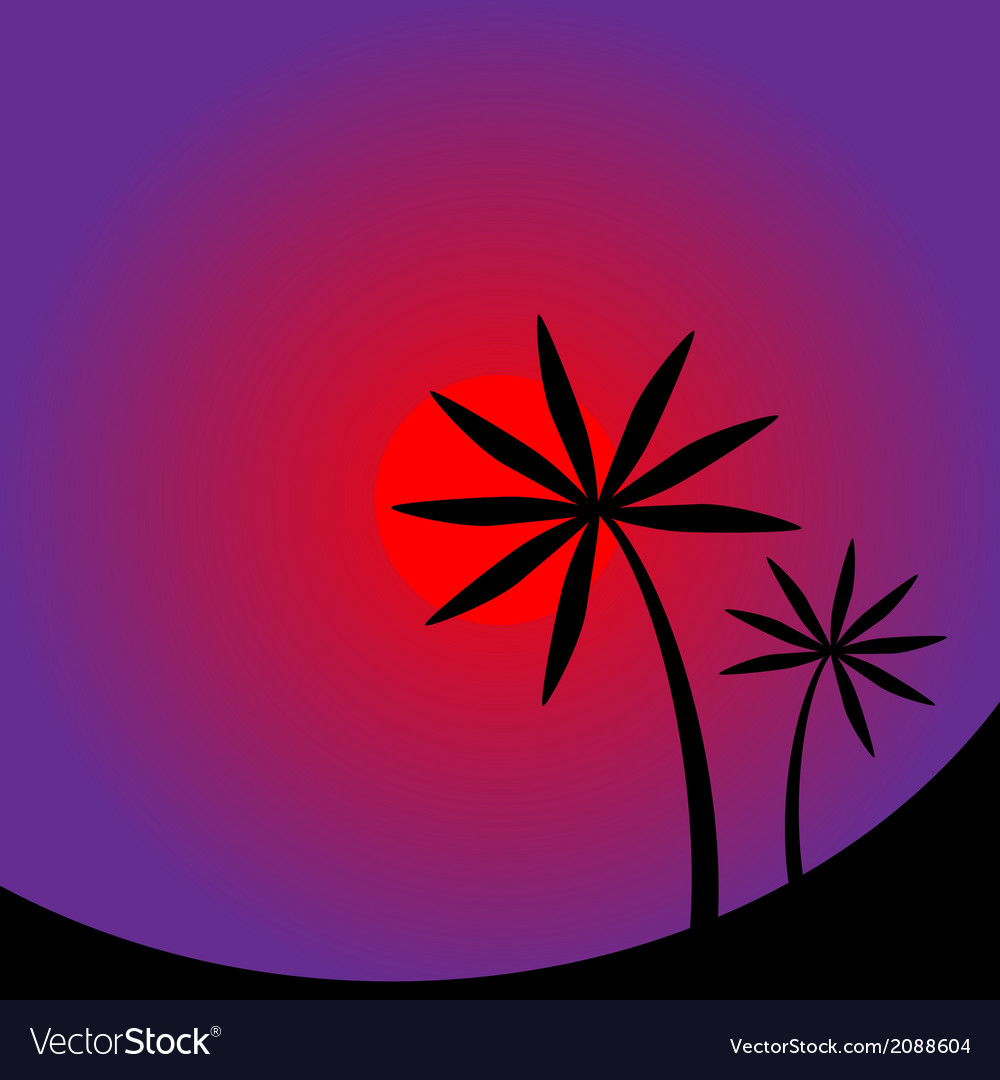 Palm tree image vector | Price: 1 Credit (USD $1)