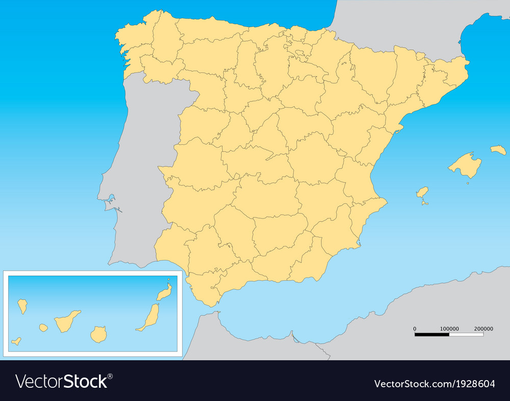 Spain map utm vector | Price: 1 Credit (USD $1)