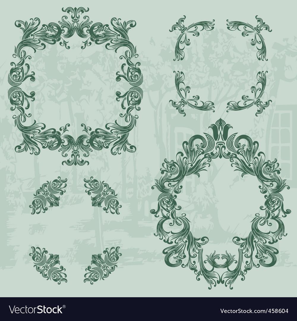 Vintage ornaments set03 vector   Price: 1 Credit (USD $1)