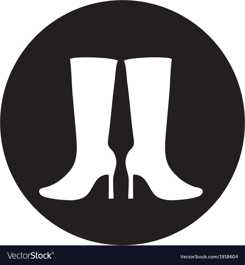 Women boots icon vector | Price: 1 Credit (USD $1)