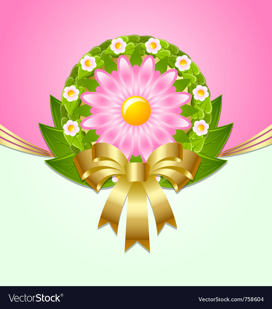 Wreath spring decoration vector | Price: 1 Credit (USD $1)
