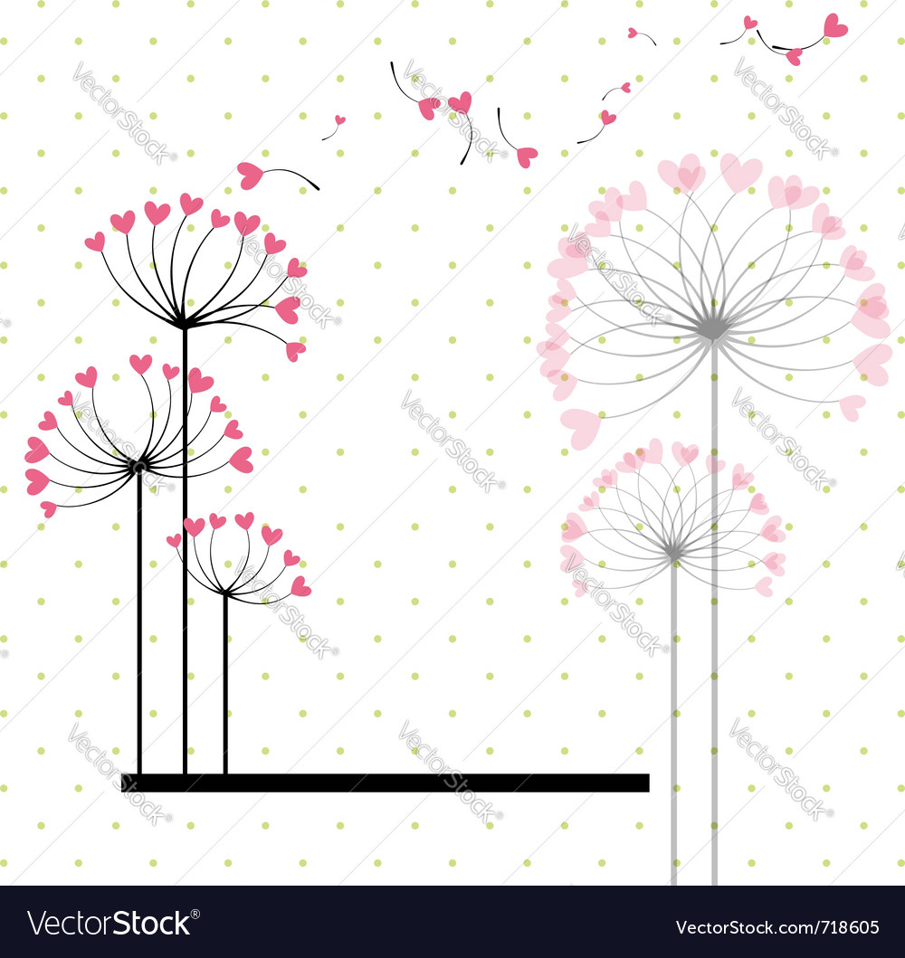 Abstract love flower vector | Price: 1 Credit (USD $1)