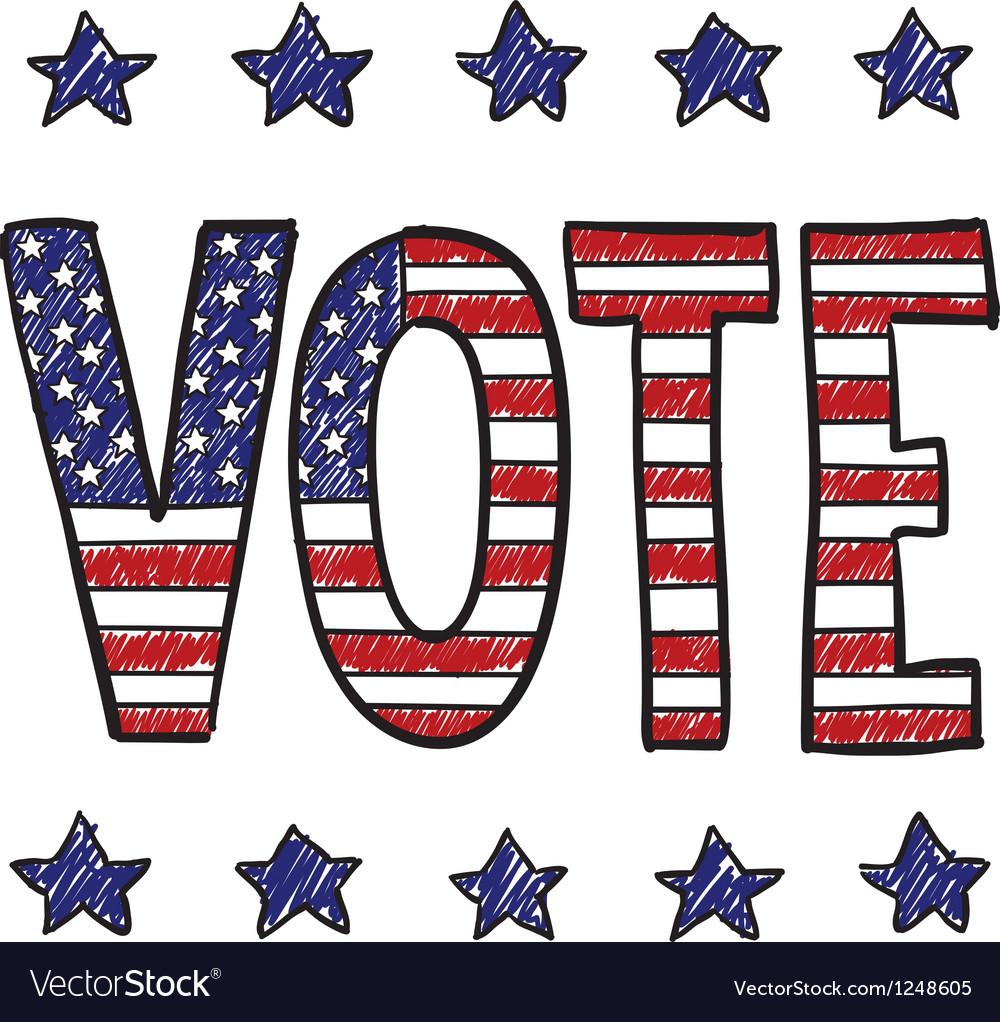 American voter vector | Price: 1 Credit (USD $1)