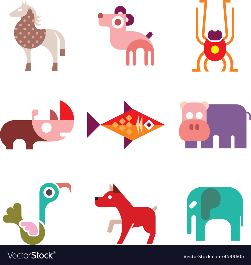 Animal icons 8 vector | Price: 1 Credit (USD $1)