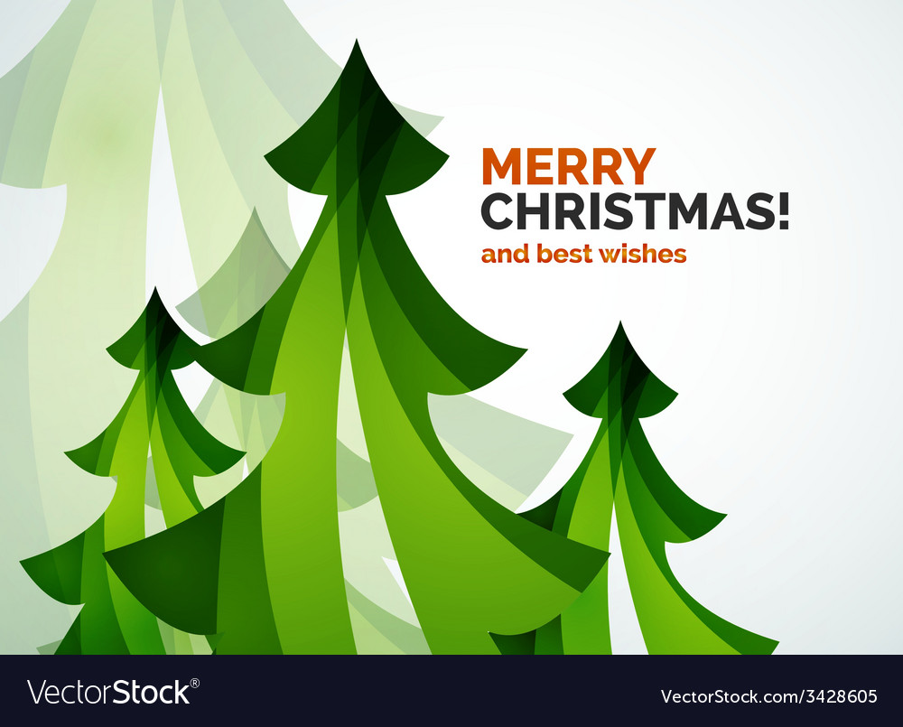 Christmas tree geometric design vector | Price: 1 Credit (USD $1)