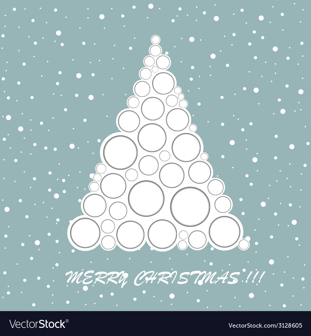 Christmas tree greeting card vector | Price: 1 Credit (USD $1)