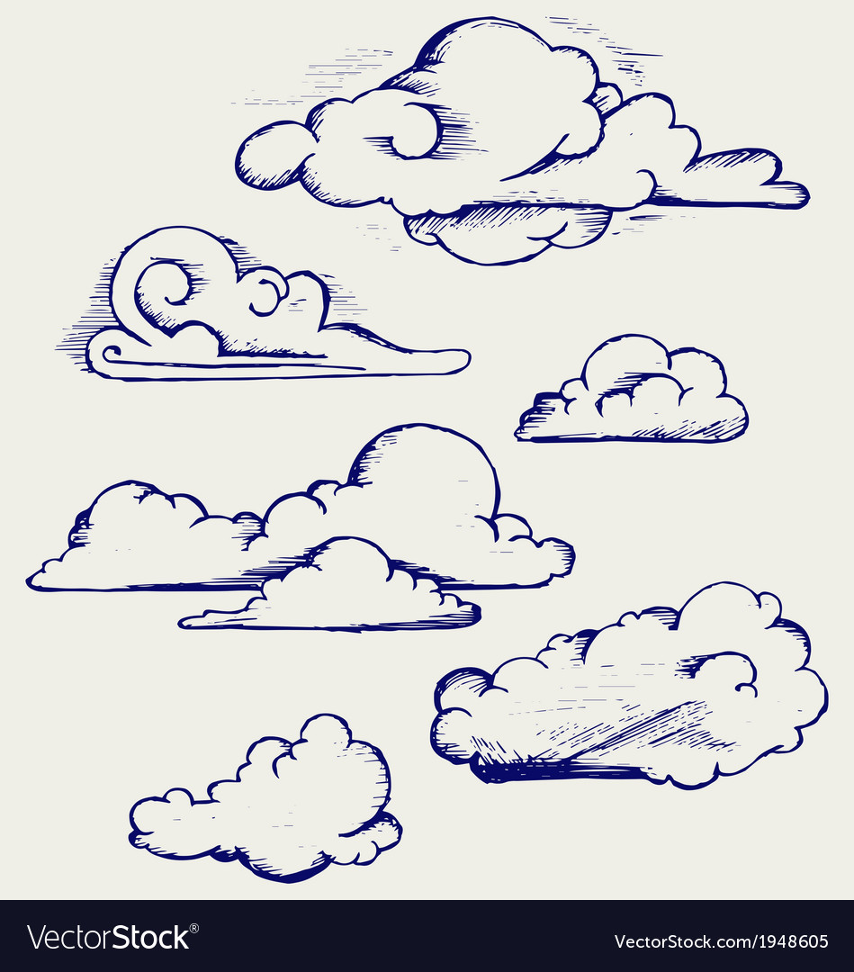 Clouds collection vector | Price: 1 Credit (USD $1)