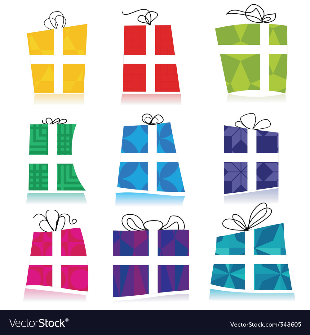 Colorful gift boxes vector   Price: 1 Credit (USD $1)