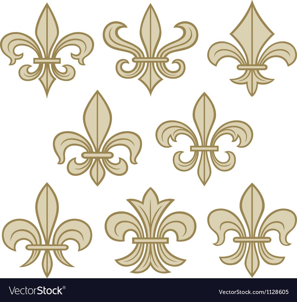 Fleur de lis symbols vector | Price: 1 Credit (USD $1)