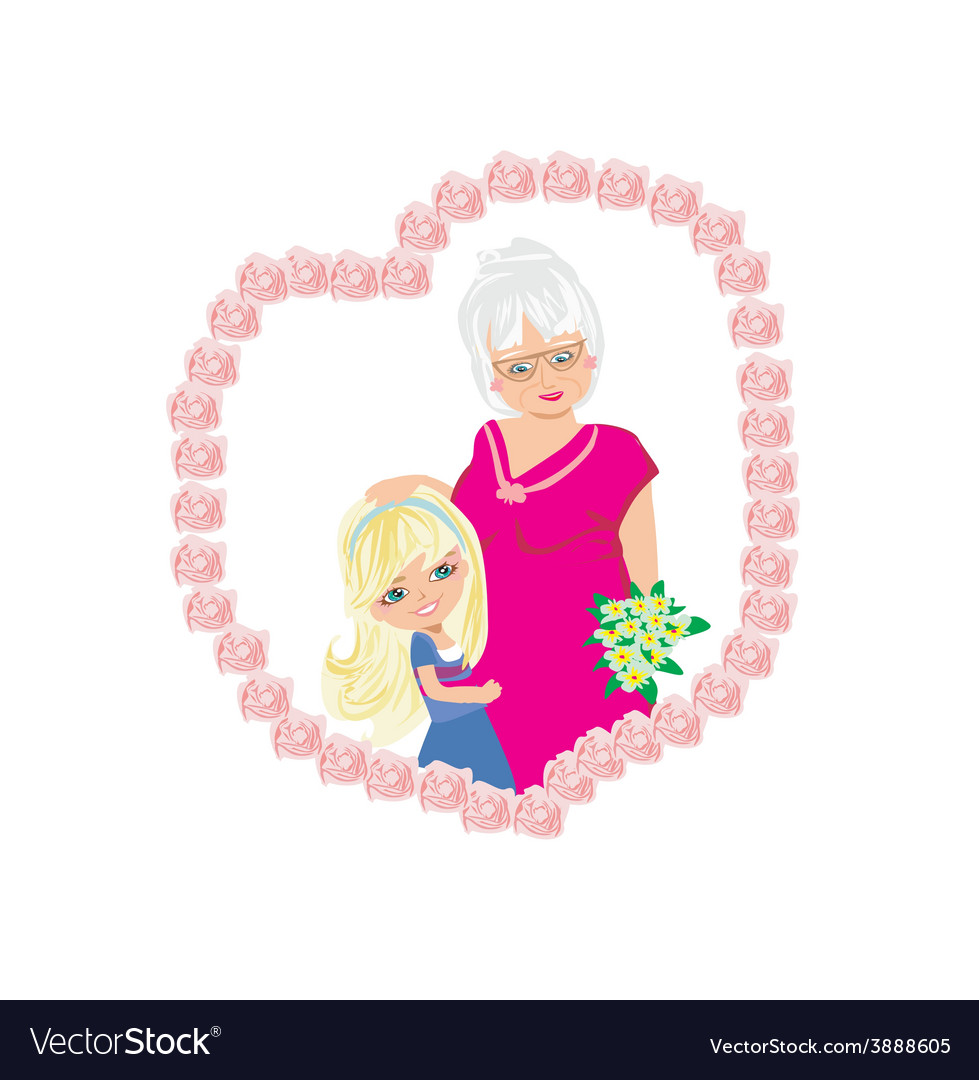 Happy grandmas day vector | Price: 1 Credit (USD $1)