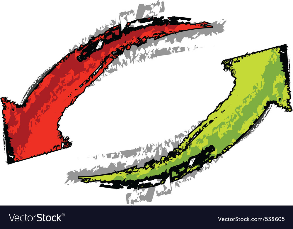 Isolated red and green arrows vector   Price: 1 Credit (USD $1)